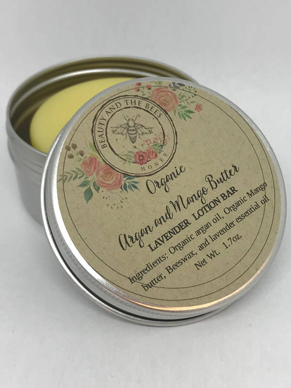 Argan Mango Lavender Lotion Bar